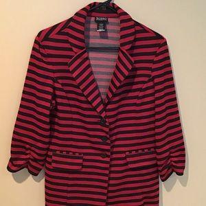 Black and red stripe blazer